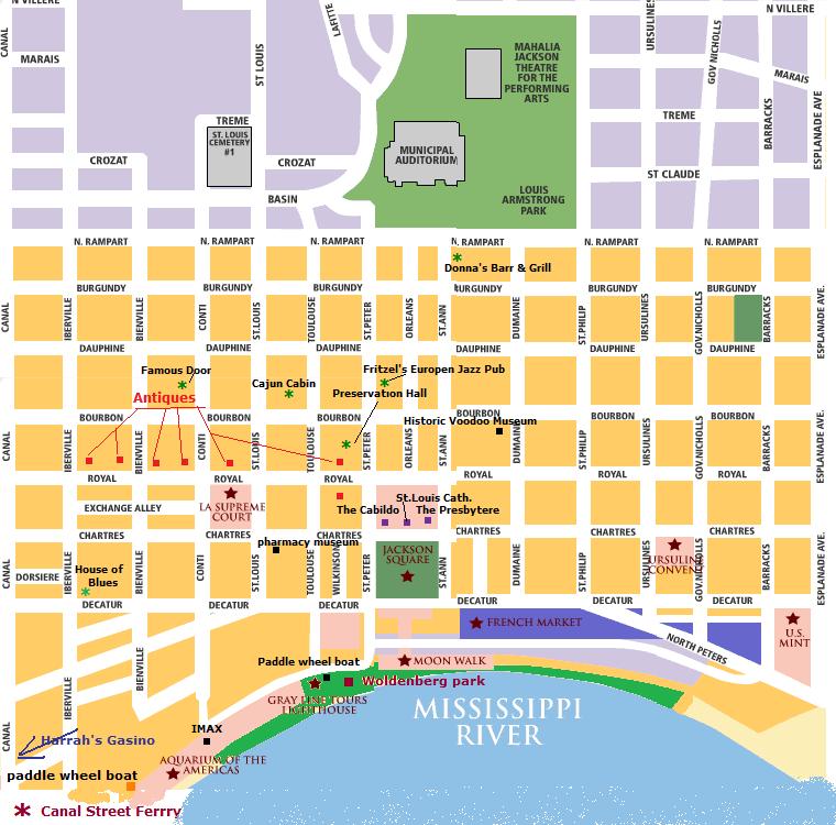 French Quarter Map - Frenchquarter Maps