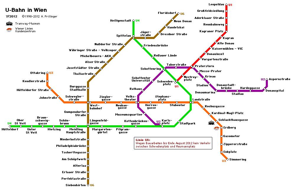 Vienna u Bahn Haritası u Bahn Haritası.2